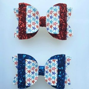 Freedom (red) & Liberty (blue) bows